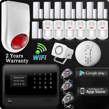 New WiFi GSM GPRS Home Burglar Alarm System IOS/Android APP Control Siren