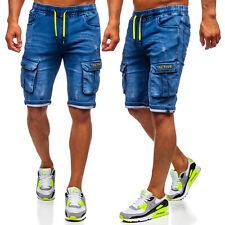 Shorts Bermudas Jeanshose Kurzhose Jeans Kurze Cargo Herren Mix BOLF Unifarben
