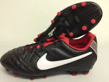Nike Junior Football Boots Leather UK 4 Black Red T236 Tiempo Natural b829a49493ce7