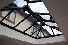 Grey 2.1m x 1.3m Roof Lantern - Grey Foiled Aluminium Glass Roof - Skylight