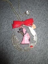 Vintage Les Nereides Necklace Red ridding hood The big bad Wolf pendant