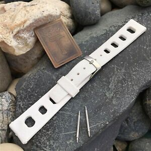 18mm Skindiver 1960s Vintage Watch Band Rubber Rally nos Dive Watch Strap
