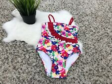 Hello Kitty Girl Swimwear Bathing Suit One Pc Ruffled Stretch Lined Floral 4T