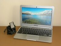 "Samsung Chromebook 11.6"" XE303C12 Series 3 1.7GHz 16GB 2GB w/ AC Adapter"