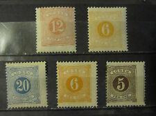 Sweden postage due  stamp perf 13 x 13 1/2 mint OG and NG
