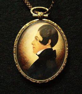 1830 American Miniature Portrait Silhouette by Gillespie RARE