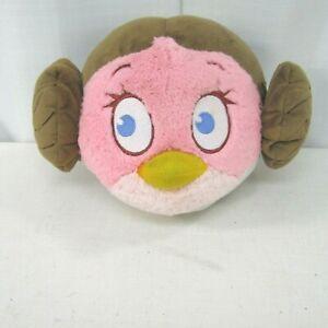 "Disney Angry Birds Star Wars Princess Leia Plush Stuff Toy 11"" Round"
