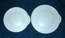 Pampered Chef 2 Pc White Replacement Lids w/ Tab Lot of 2
