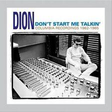 DION (DION FRANCIS DIMUCCI) - DON'T START ME TALKIN' NEW CD