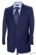 SUIT SUPPLY Solid Blazing Blue Wool Jacket Pants SUIT Mens Bespoke / Custom 34 R