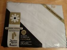 Vtge JC Penneys PennPrest white FLAT sheet TWIN SINGLE bed NOS Fashion Manor NEW