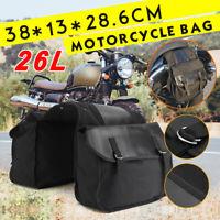 SchwarzSegeltuch Motorrad Satteltasche Seitenkoffer Tasche Gepäck Universal