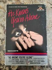 He Knows You're Alone BETA BETAMAX Rare Horror MGM/UA