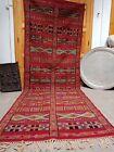 Antique Moroccan berber rug Vintage Kilim rug 11.48 ft / 4.27 ft handmade Azilal