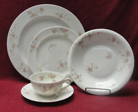 THEODORE HAVILAND, NY - PINK SPRAY Pattern - 5-piece PLACE SETTING w/Soup Bowl