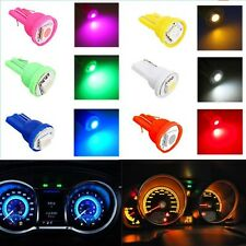 100x Colored T10 5050 1SMD Car Bulbs Wedge Dash Plate LED Light 194 168 2825 W5W