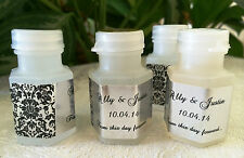 210 DAMASK Silver Foil BUBBLE LABELS/STICKERS for WEDDING or party FAVORS