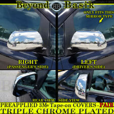 Chrome Mirror COVERS Overlays Trims w/o turn signal For 2011-2018 TOYOTA SIENNA