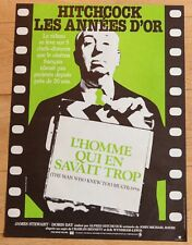 Affiche de cinéma 40x60 : L'HOMME QUI EN SAVAIT TROP de ALFRED HITCHCOCK