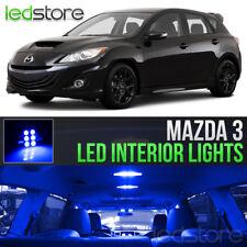2004-2013 Mazda 3 Blue LED Lights Interior Kit Package Bulbs MazdaSpeed