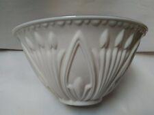 Lenox Large Embossed Design Ivory & Gold Trim Serving Bowl ~ USA ~ Beautiful