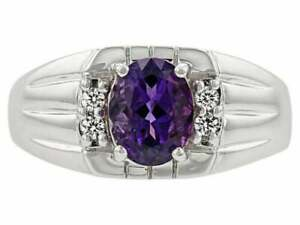 Amethyst Engagement Ring 5x7 mm Oval Amethsyt Promise ring 1 Ct amethyst Band