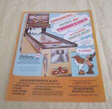 1977 Williams Thunderbird Arcade Flyer