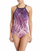 Carmen Marc Valvo High-Neck One-Piece Swimsuit  $130 Size 14 # U10B 252 NEW