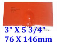 "3"" X 5.75"" 76 X 146mm 12V 35W  w/ 3M w/ 80 Degree C Control CE Silicone Heater"