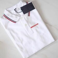 PRADA men's polo shirt black white gray short sleeve navy blue New 100% Original