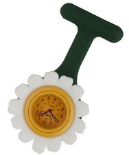 New Daisy Floral Funky Silicon Nurse Doctor Paramedic Tunic Brooch Fob Watch
