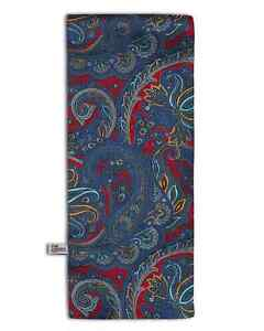 Men's Paisley Scarf Blue and Red Classic Colours - The Oxford