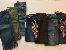 7 - Girls lot size 10, 12, 8 Jeans Apple Bottoms, Old Navy etc (Pre-owned)