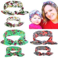 2Pcs Maman Mère & Fille Enfants Bébé Fille Bow Bandeau cheveux bande Accessoires