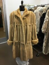 GOLDIN FELDMAN GOLDEN CANADIAN SABLE MINK FULL SWING COAT NEW TUFTED PELTS L/XL
