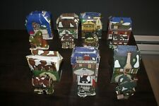 Lot Of 7 Department 56 Charles Dickens Heritage Christmas Ornament Houses
