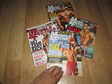 MUSCLE & FITNESS Mag 2007 2008 Joe weider Bodybuilding book lot 4 back issues