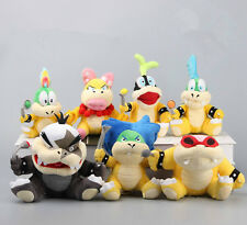 7 Super Mario Koopalings Larry Iggy Lemmy Koopa Wendy Bowser Plush Toy Soft Doll