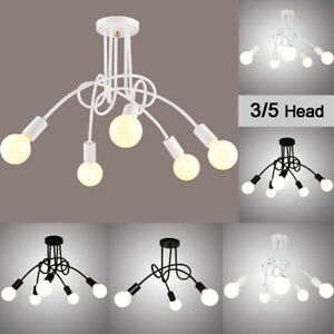 Industrial Ceiling Lights Modern Pipe Iron Vintage Nordic Lamps For Living Room