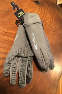 Polo New Graphite Touch compatible gloves Sz XL Mens