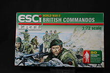 YB074 ESCI 1/72 maquette figurine P-210 British Commandos WWII NB