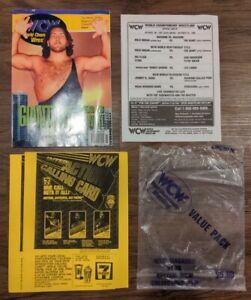 RARE WCW Halloween Havoc 1995 Magazine & PPV Event Sheet Hogan Giant WWE WWF ECW