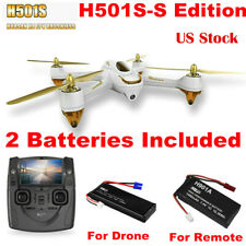 Hubsan H501S S  X4 Drone 5.8G FPV 1080P HD CAM GPS Quadcopter RTH+2Battery White