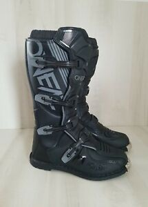 O'Neal Element Motorcycle Boots Off-Road MX Motocross Black Size 12 US 46 Euro