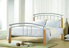 SPECIAL OFFER !!!! 4FT6  DOUBLE METAL JOSE SILVER BED FRAME
