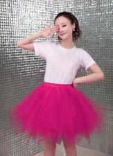 Women's Tutu Tulle Skirts 4 Layers Dancewear Evening Party Ballet Puffy Dress
