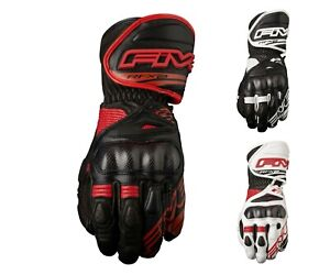 Five RFX2 Motorbike Racing Sport Road Adult Carbon Knuckle Leather Gloves