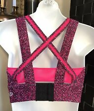 LIKE NEW Women Lululemon Crop Top Mesh Padded Bra Pattern Sz 6 ( Au 8-10 )
