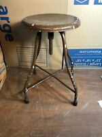 Vintage MEDICAL Exam STOOL Adjustable TATTOO Drafting ANTIQUE Dentist INDUSTRIAL