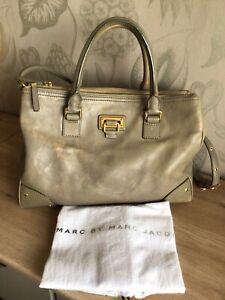 Marc Jacobs Large Leather Satchel Bag With Shoulder Strap & Original Dust Bag